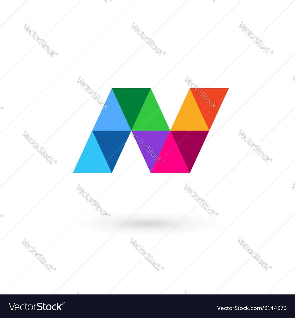 Letter n mosaic logo icon design template elements vector | Price: 1 Credit (USD $1)