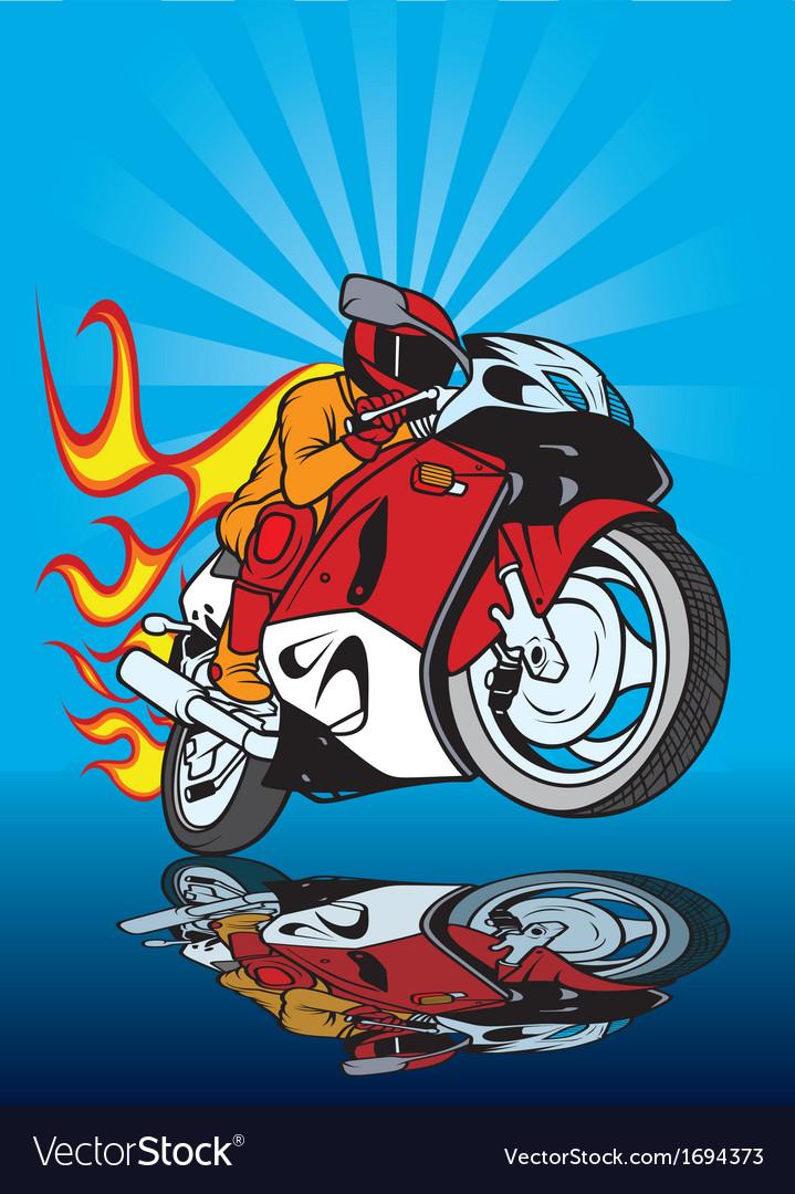 Motorcycle racing vector | Price: 1 Credit (USD $1)
