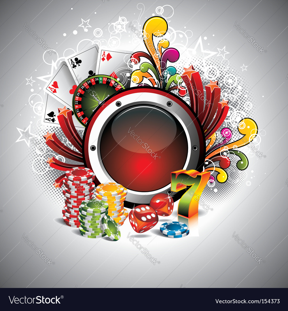 Illustration on a casino theme vector | Price: 3 Credit (USD $3)