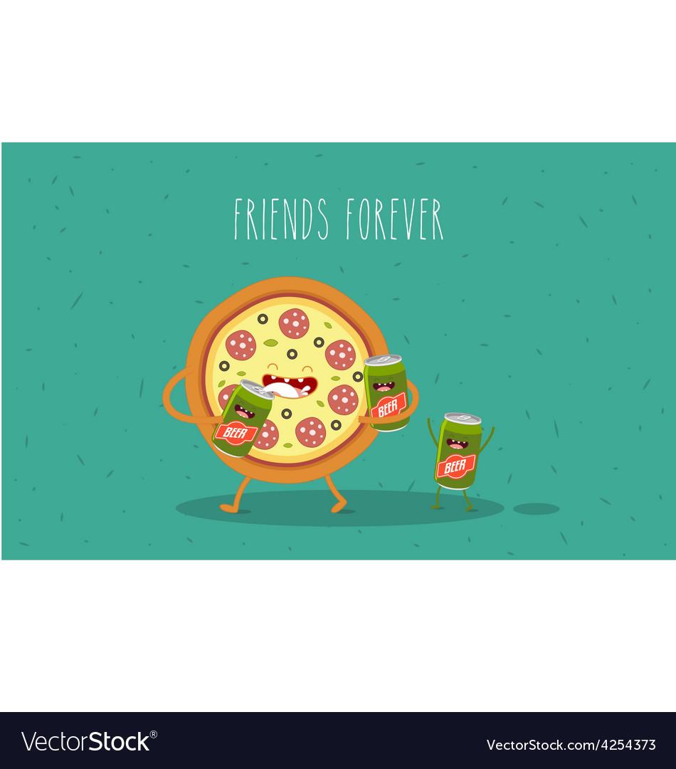 Pizza beer vector   Price: 3 Credit (USD $3)