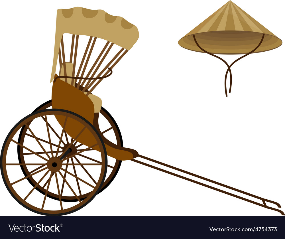 Rickshaw and hat vector | Price: 1 Credit (USD $1)