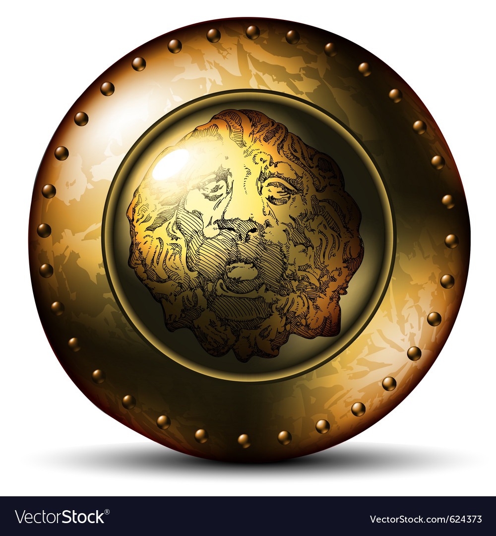 Shield ancient with lion vector | Price: 1 Credit (USD $1)