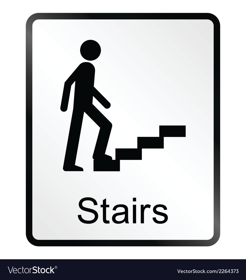 Stairs information sign vector | Price: 1 Credit (USD $1)