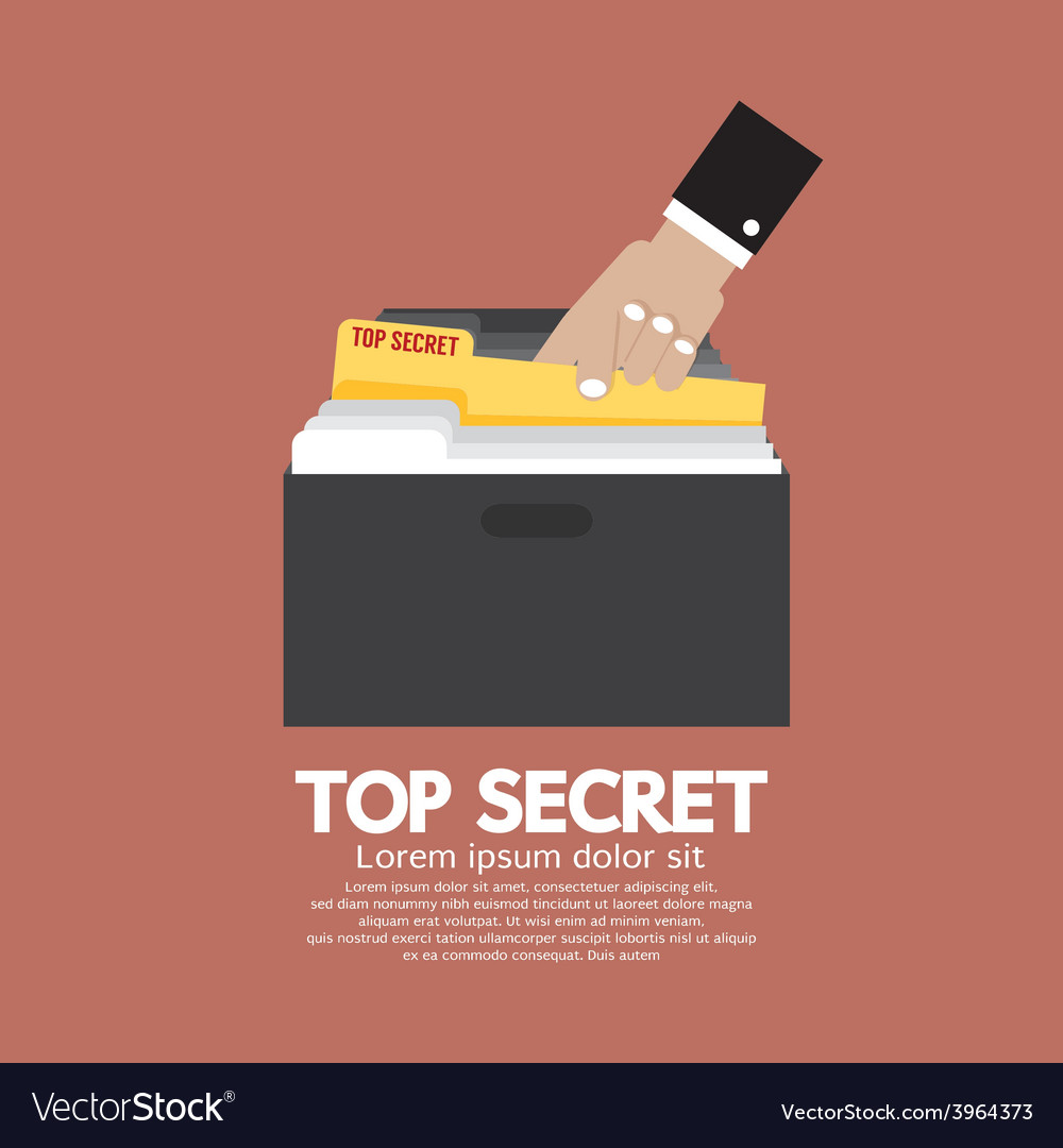 Top secret folder in hand vector | Price: 1 Credit (USD $1)