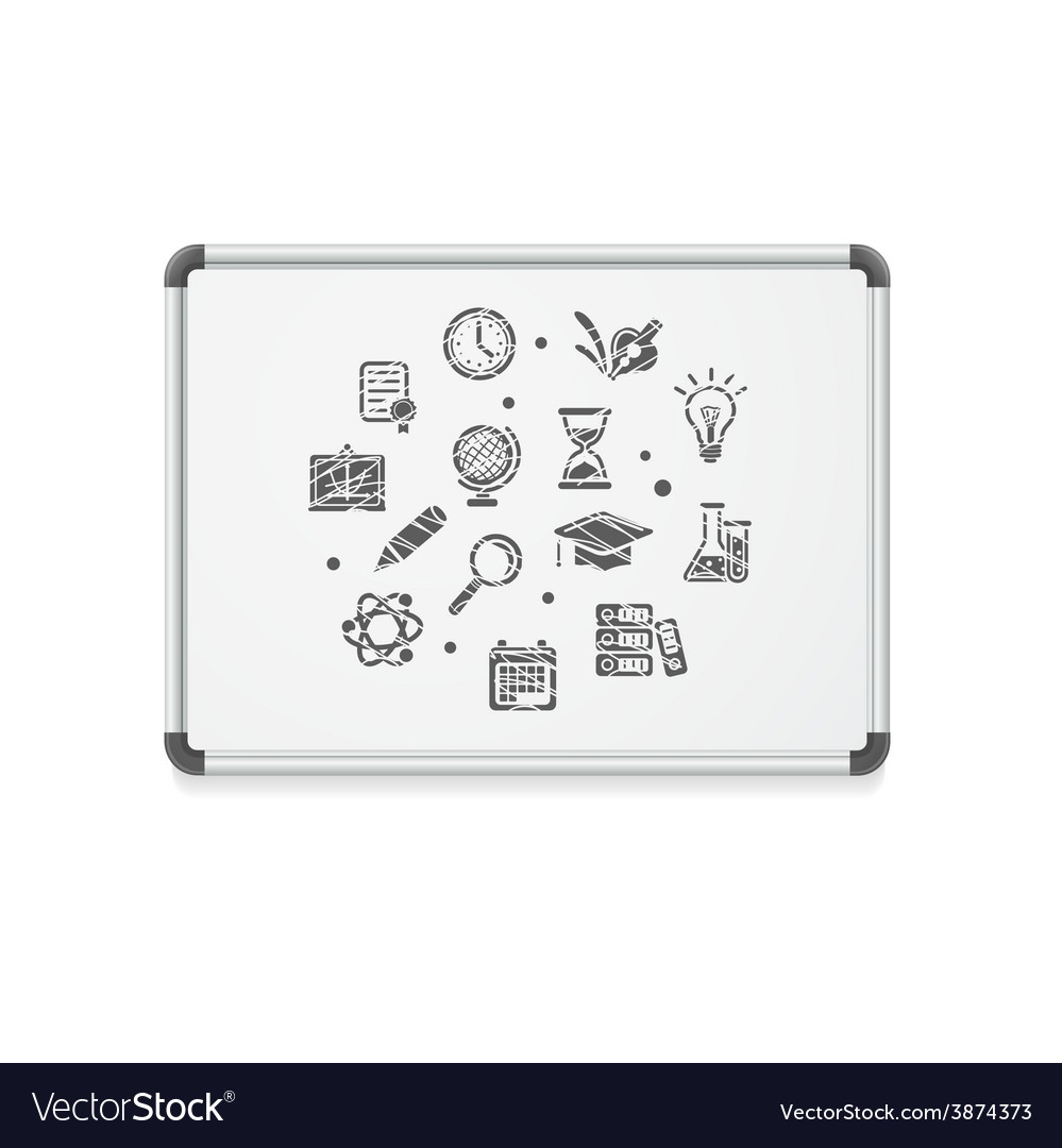 Whiteboard concept icon vector | Price: 1 Credit (USD $1)