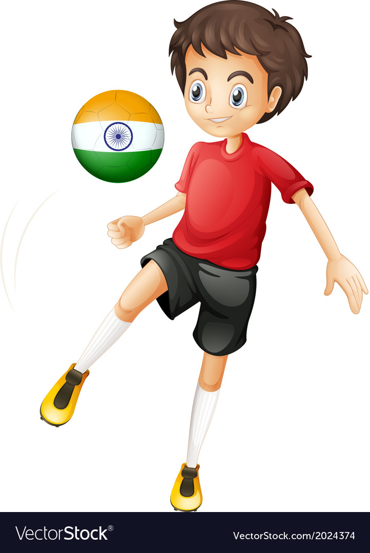 An indian soccer player vector | Price: 1 Credit (USD $1)