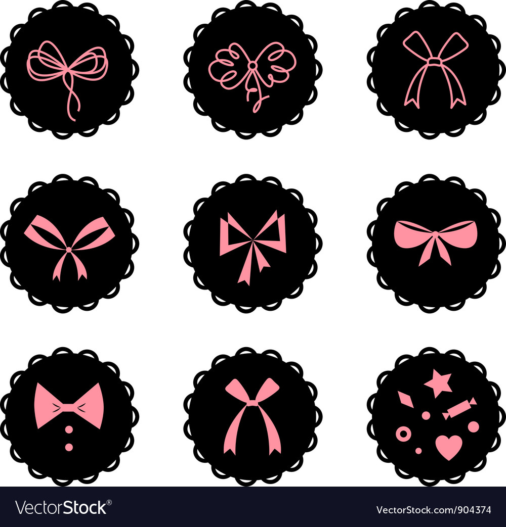 Bows vector | Price: 1 Credit (USD $1)