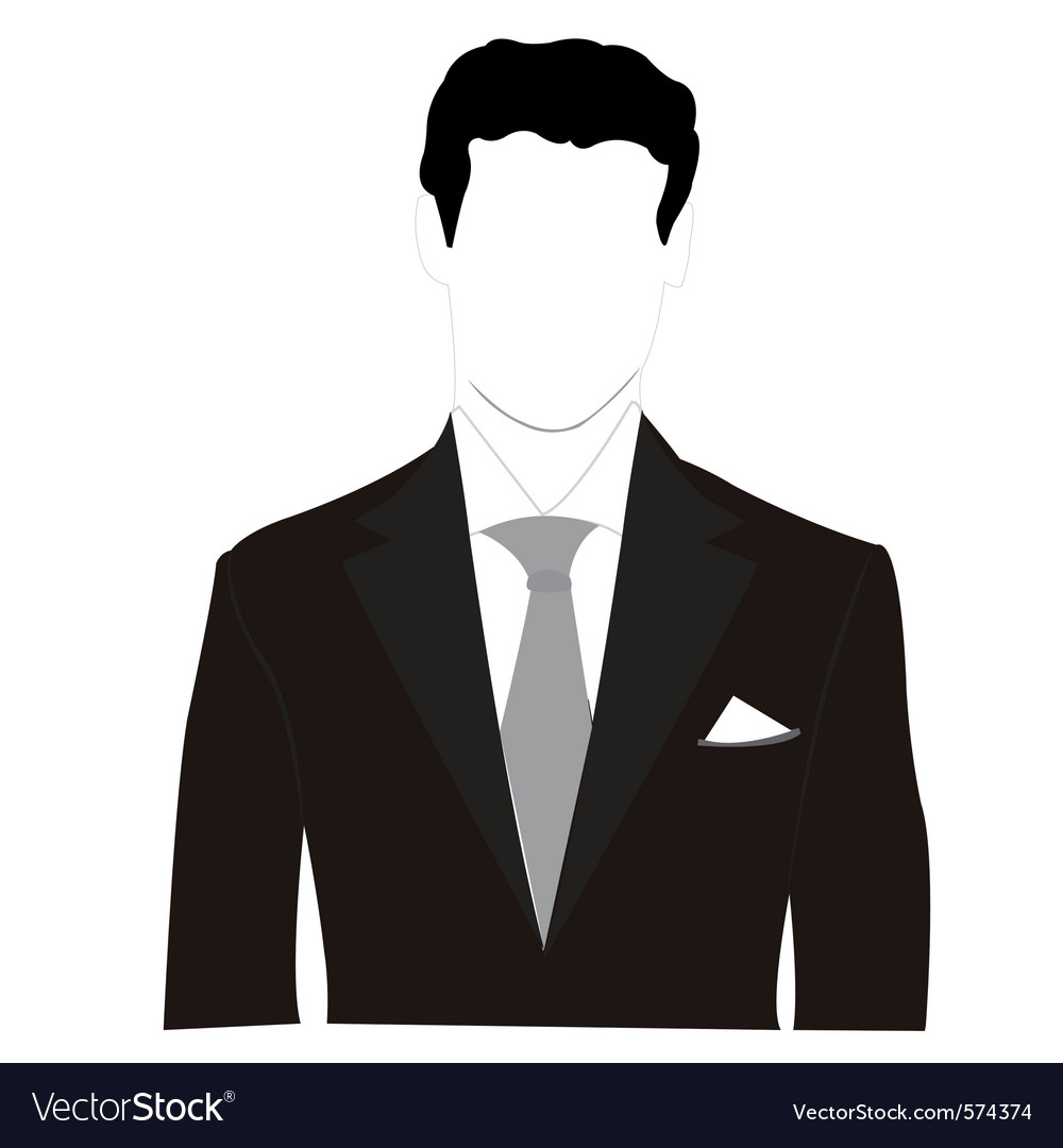 Business man silhouette vector | Price: 1 Credit (USD $1)