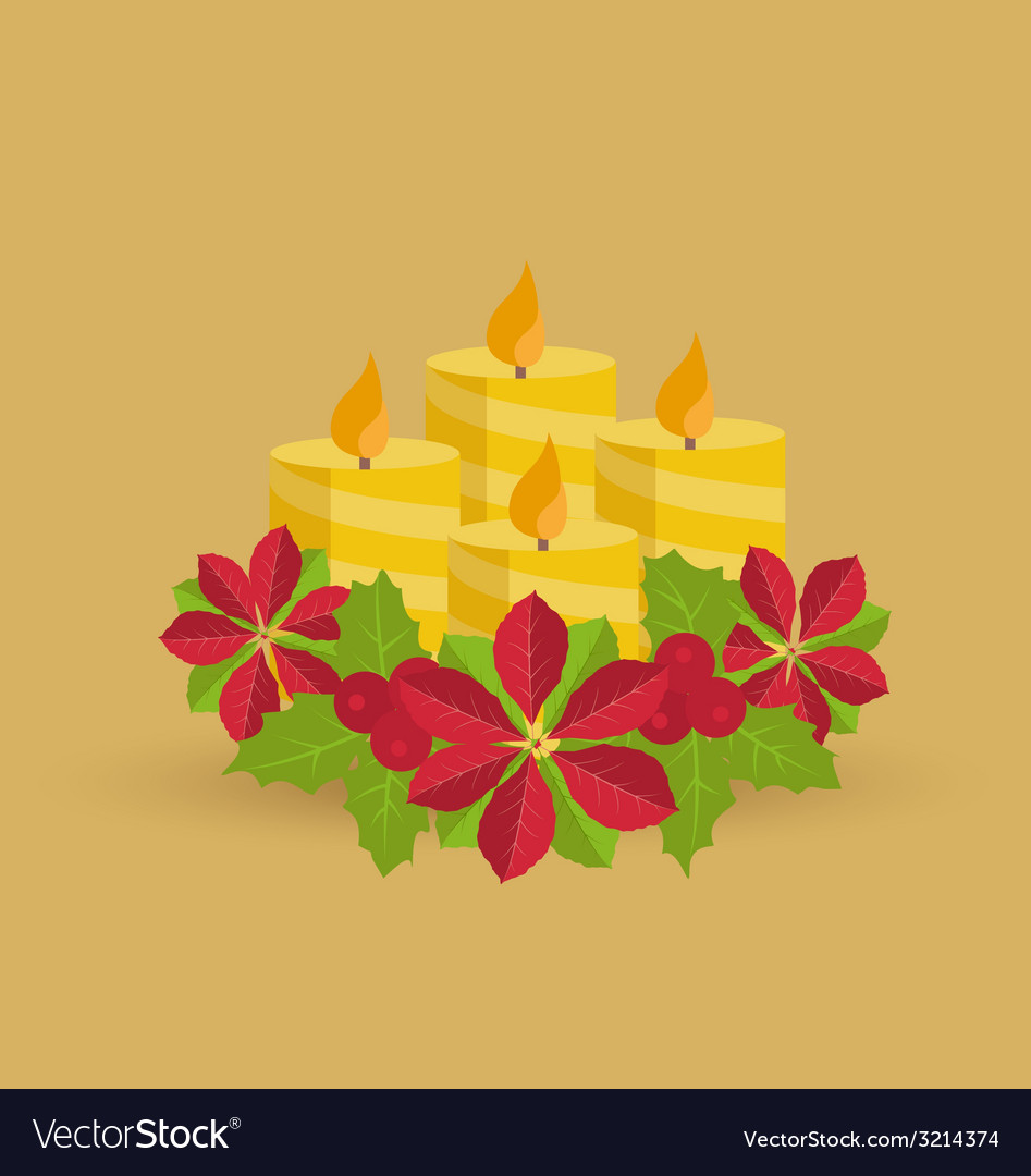Christmas candles vector | Price: 1 Credit (USD $1)
