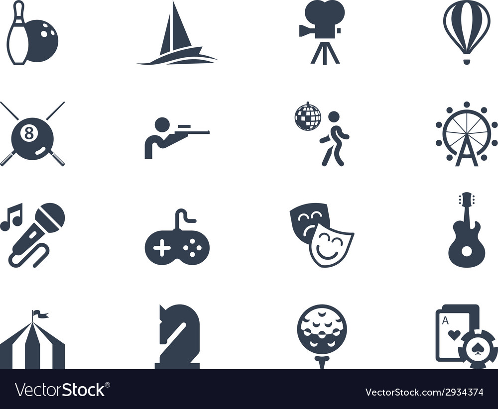 Entertainment icons lyra series vector | Price: 1 Credit (USD $1)