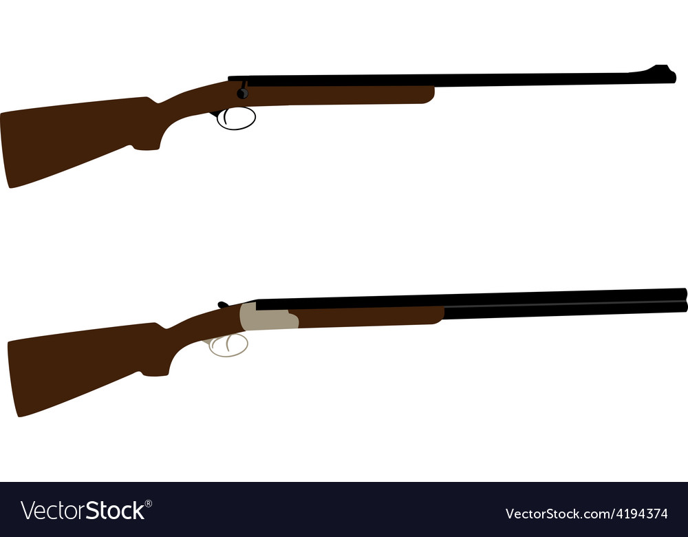 Hunting rifle and shotgun vector | Price: 1 Credit (USD $1)