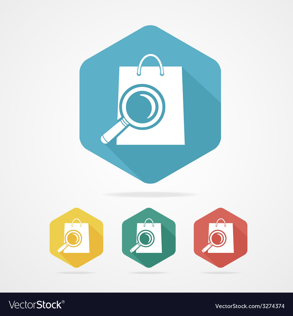 Isolated shopping bag icon with a magnifier vector | Price: 1 Credit (USD $1)