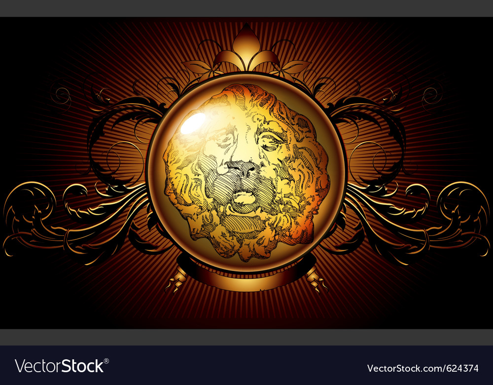 Shield ancient with lion vector   Price: 1 Credit (USD $1)