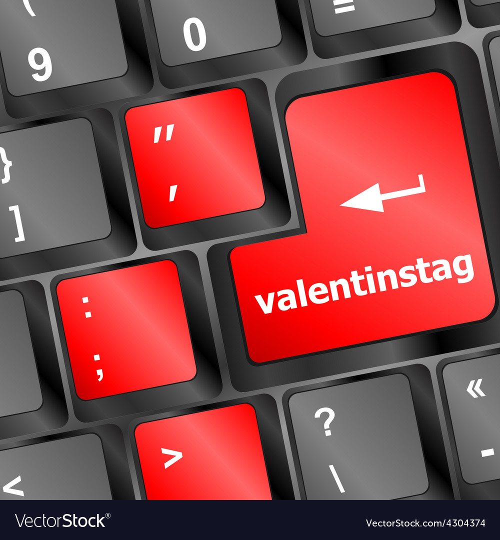 Valentine message on keyboard enter key vector | Price: 1 Credit (USD $1)