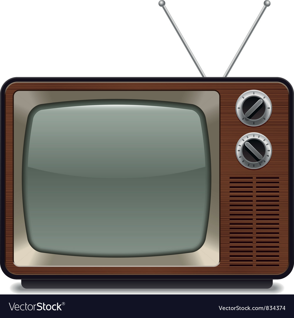 Vintage television vector | Price: 1 Credit (USD $1)