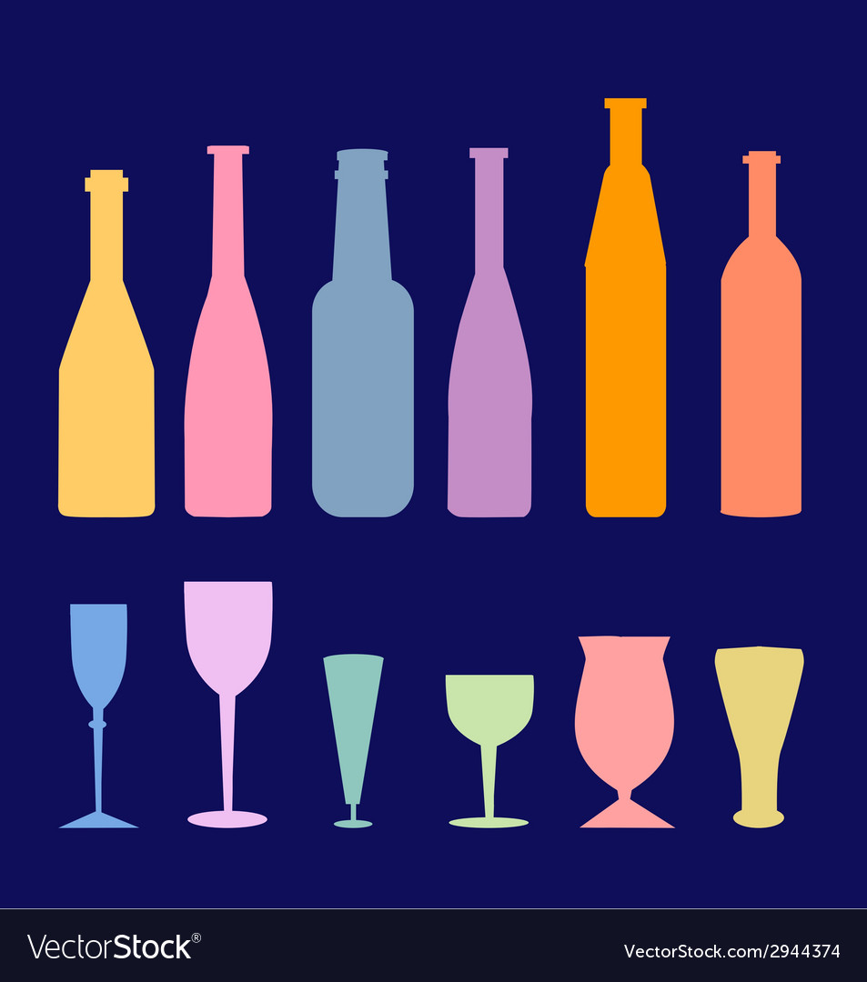 Wine bottle glass vector | Price: 1 Credit (USD $1)