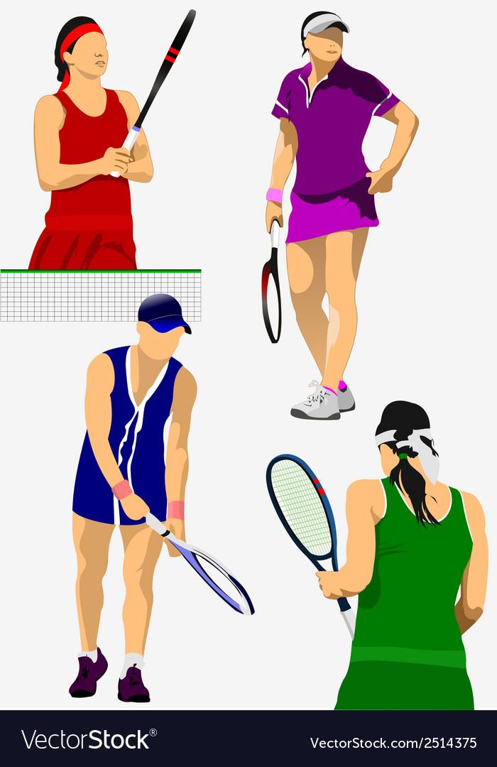 Al 0208 02 tennis vector | Price: 1 Credit (USD $1)