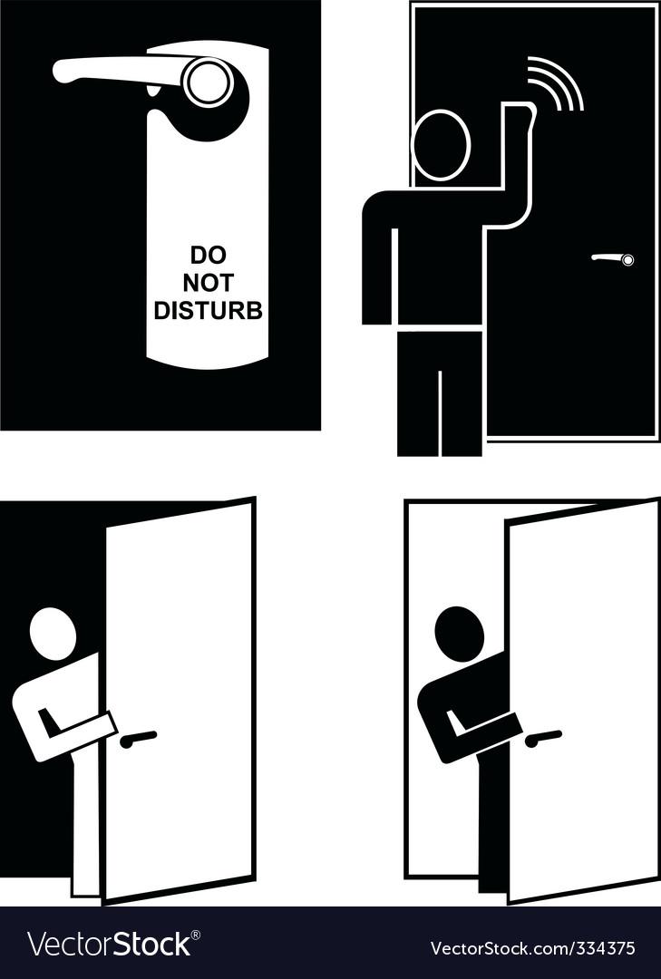 Do not disturb vector | Price: 1 Credit (USD $1)