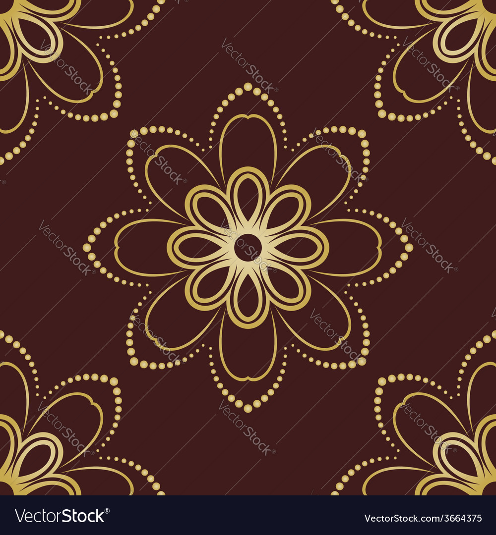 Floral seamless pattern orient abstract floral vector | Price: 1 Credit (USD $1)