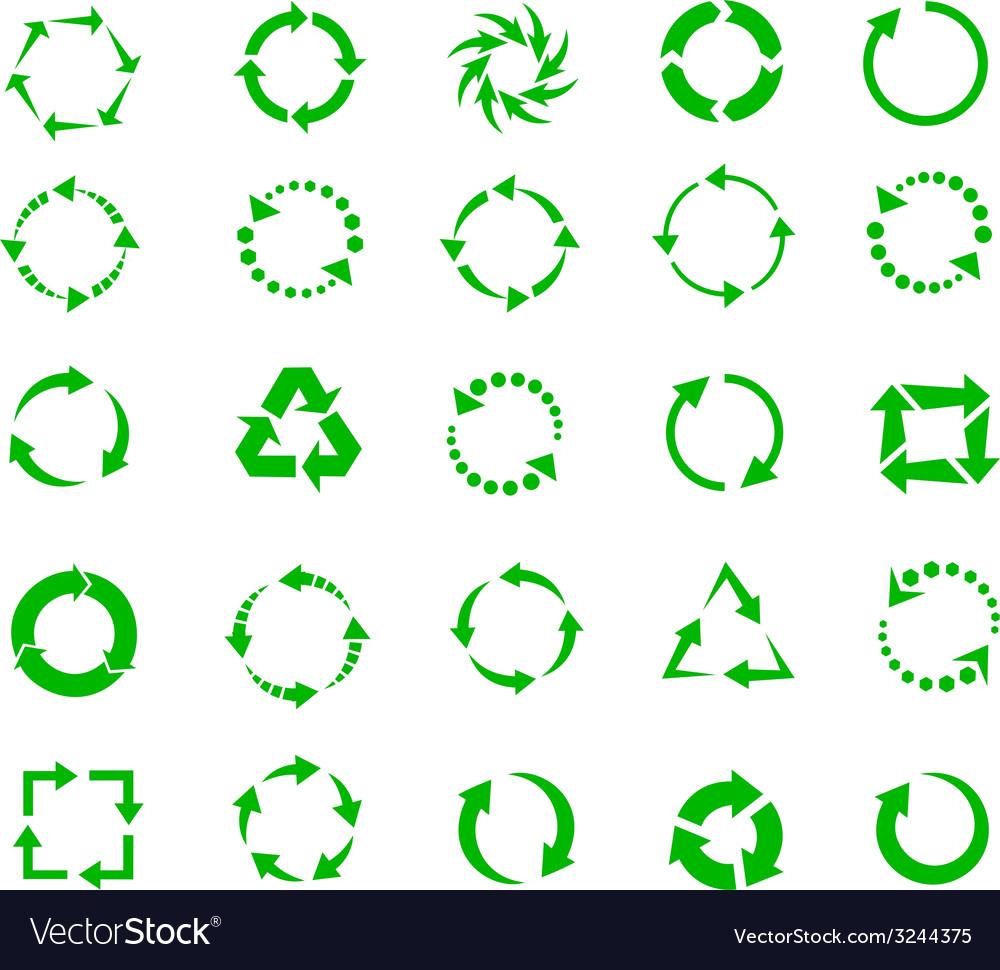 Green arrow vector | Price: 1 Credit (USD $1)