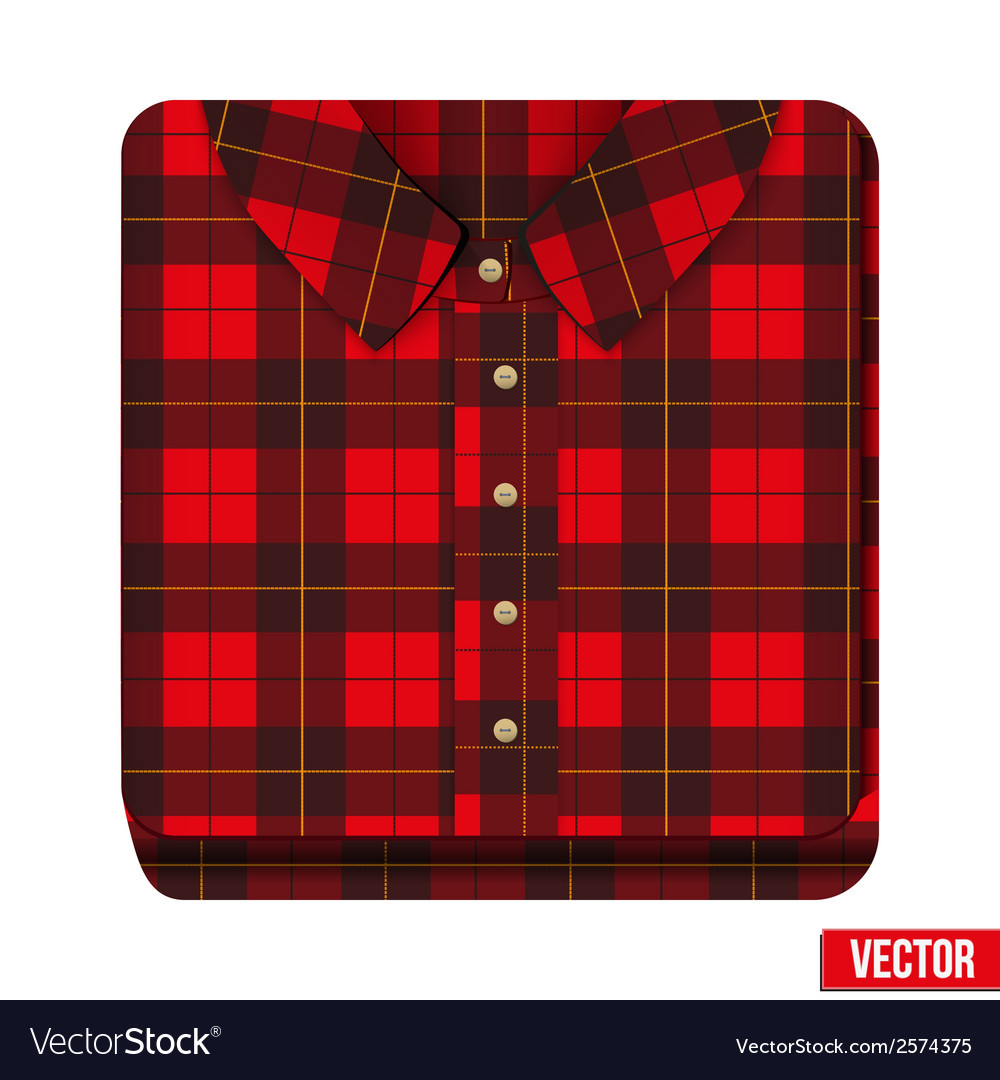 Icon flannelet check texture plaid shirt vector | Price: 1 Credit (USD $1)