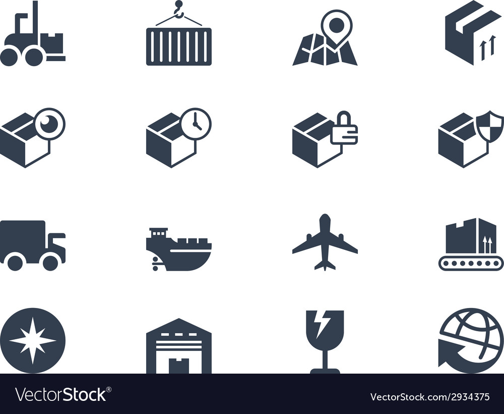Logistic and shipping icons lyra series vector | Price: 1 Credit (USD $1)