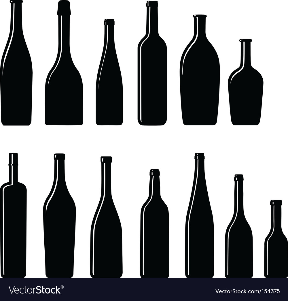 Silhouette bottles vector | Price: 1 Credit (USD $1)