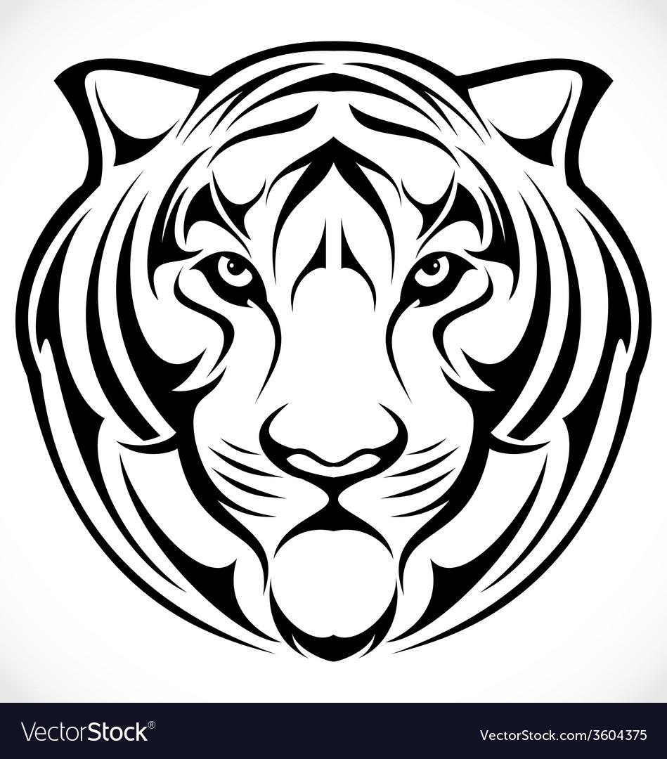 Tiger head tribal vector | Price: 1 Credit (USD $1)