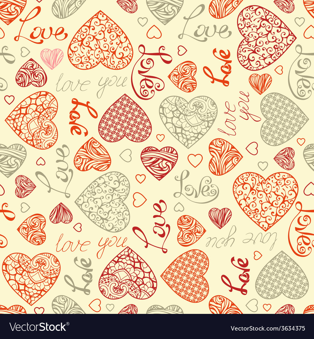 Valentines seamless pattern vector | Price: 1 Credit (USD $1)