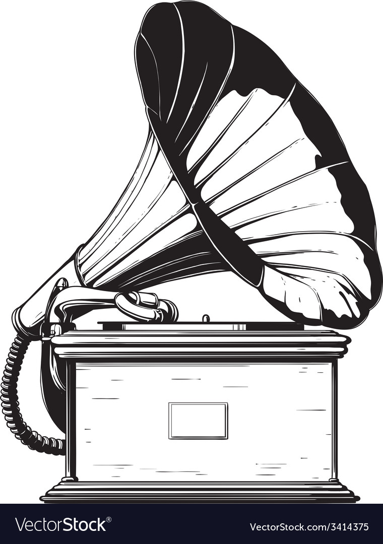 Vintage gramophone vector | Price: 1 Credit (USD $1)