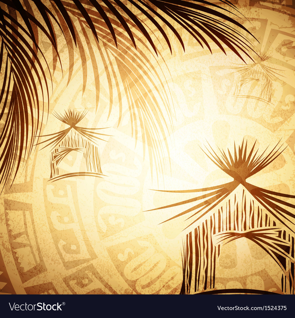 Vintage tropic background vector | Price: 1 Credit (USD $1)
