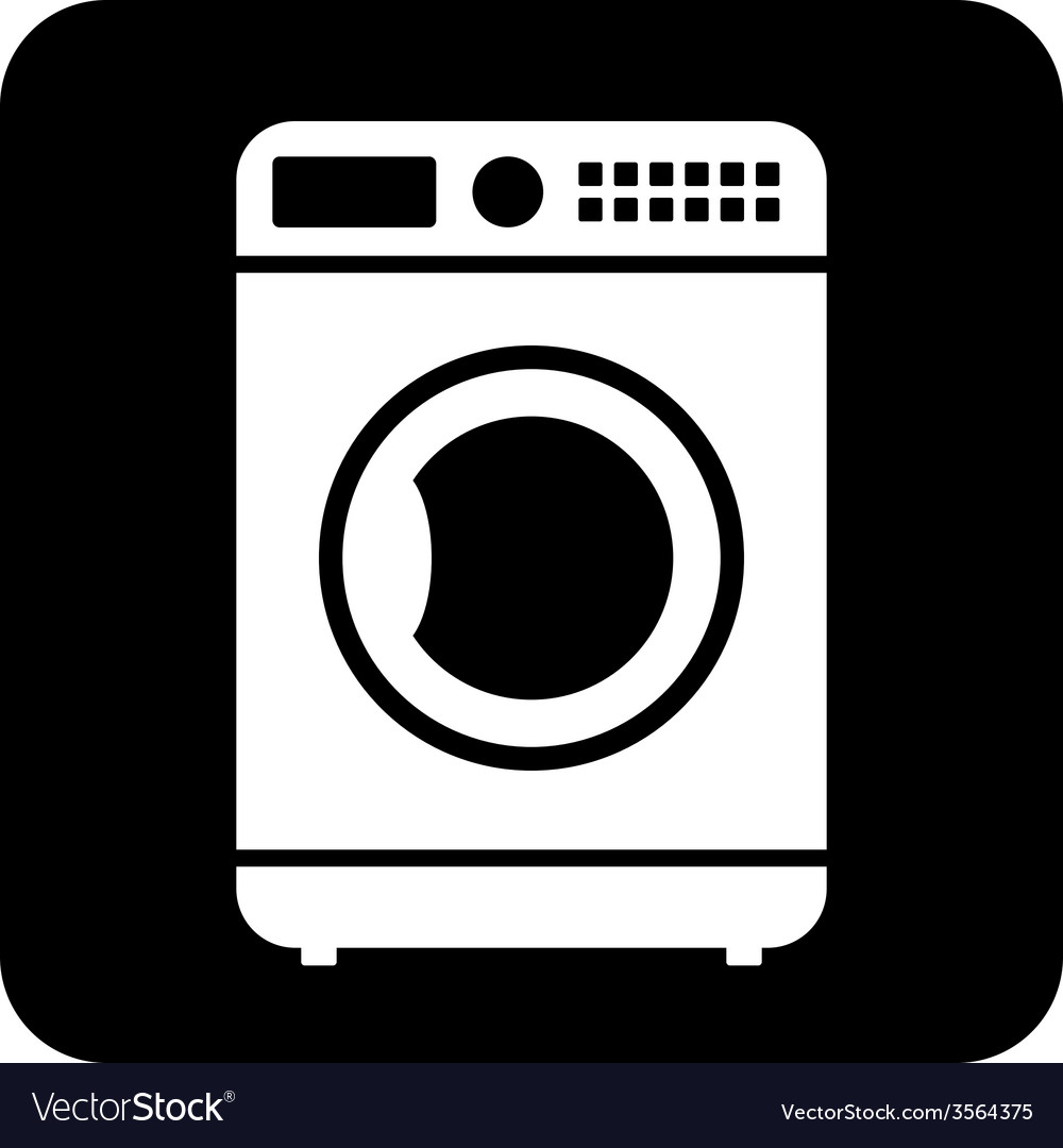 Washing machine button vector | Price: 1 Credit (USD $1)