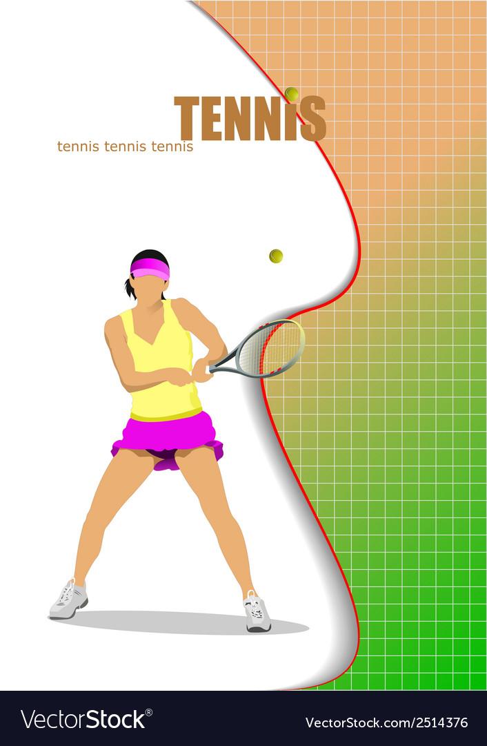Al 0208 tennis vector | Price: 1 Credit (USD $1)