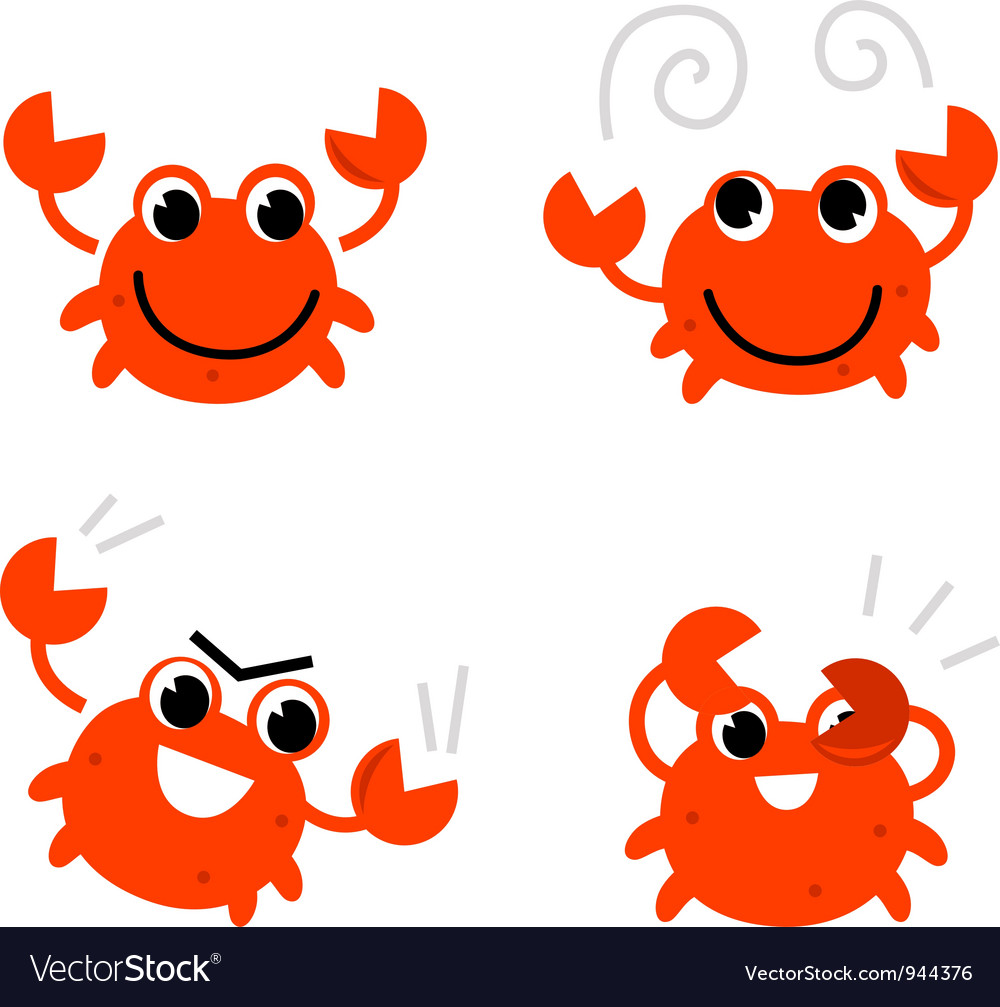 Cartoon crab vector | Price: 1 Credit (USD $1)