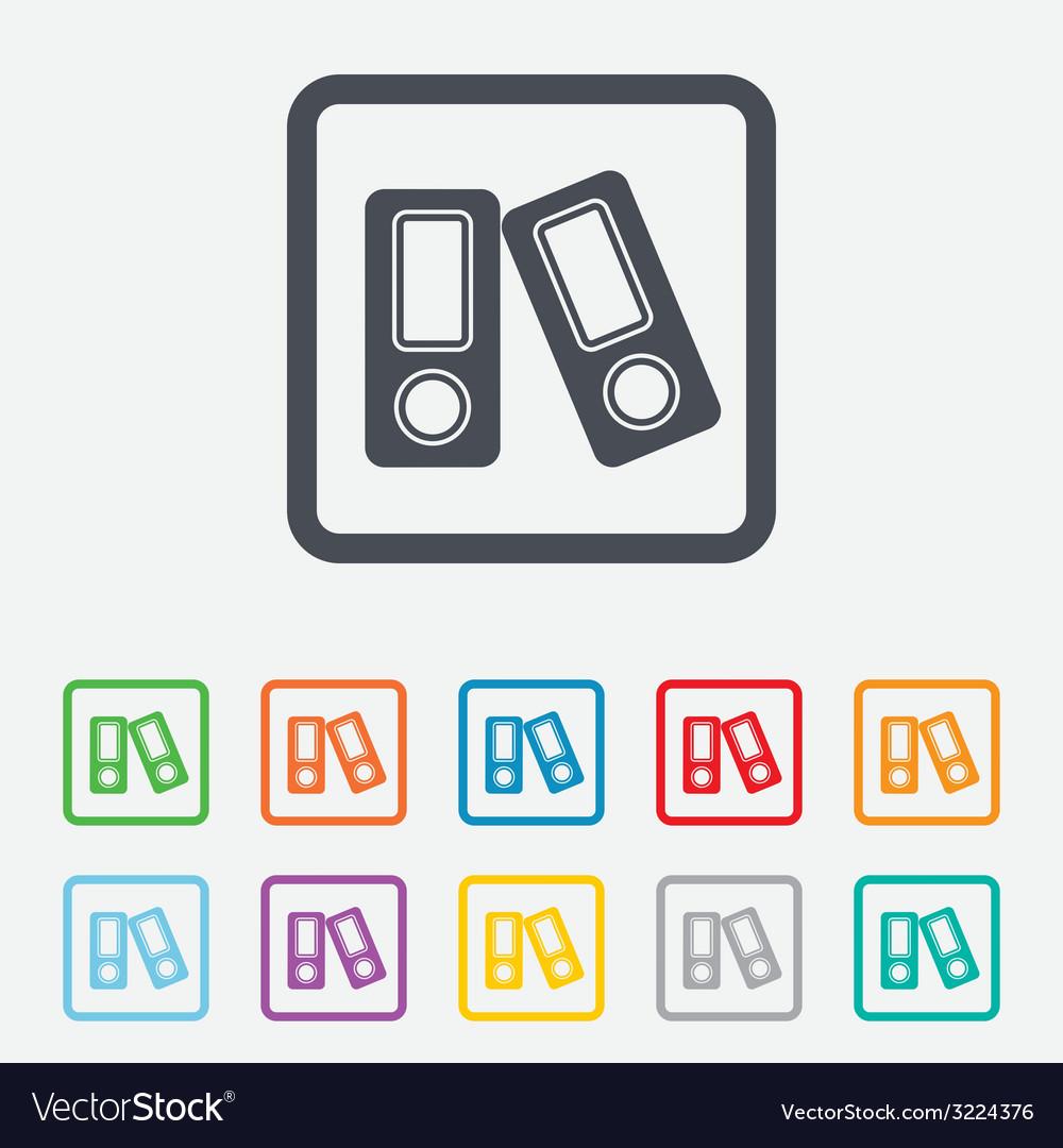 Document folder sign accounting binder symbol vector | Price: 1 Credit (USD $1)