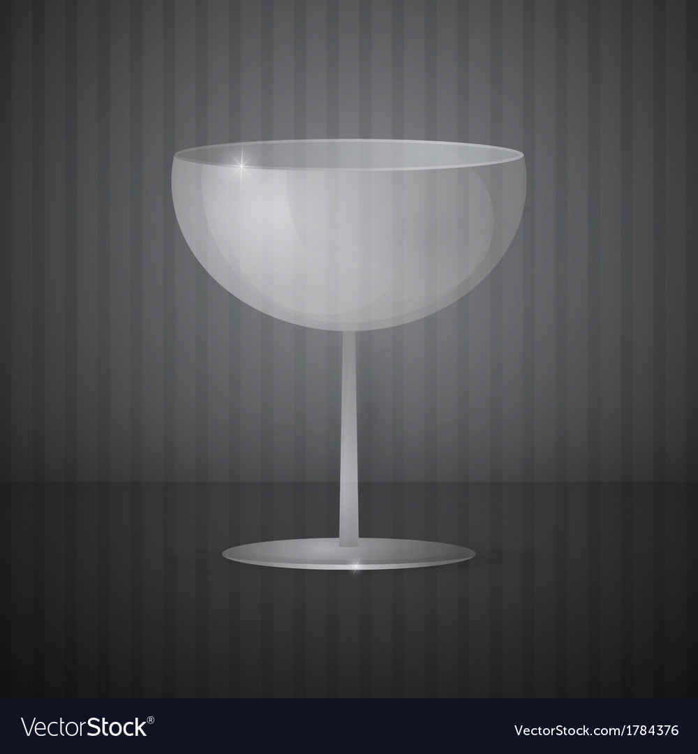 Empty wine glass on dark grey background vector | Price: 1 Credit (USD $1)