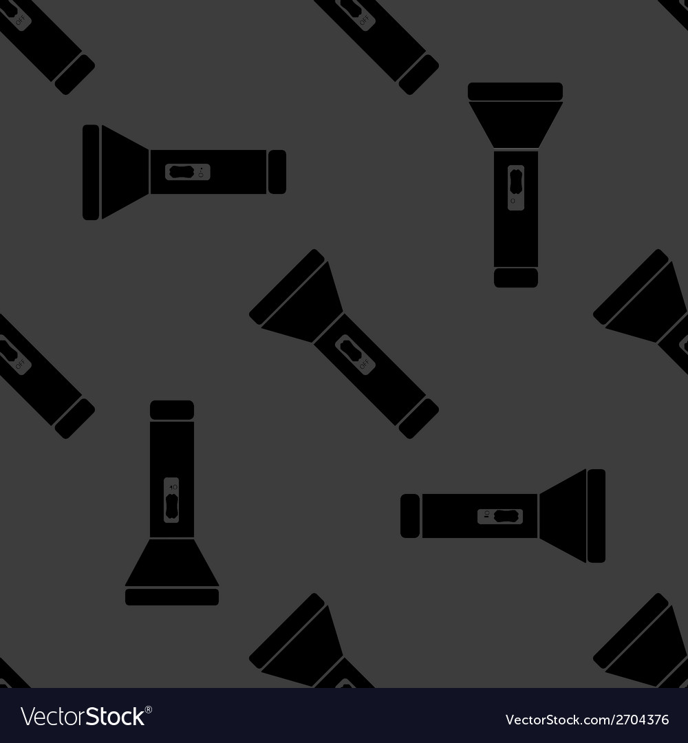 Flashlight web icon flat design seamless gray vector | Price: 1 Credit (USD $1)