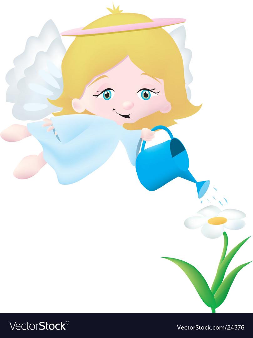 Garden angel vector | Price: 1 Credit (USD $1)