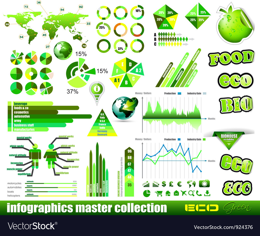 Infographical icons vector | Price: 3 Credit (USD $3)