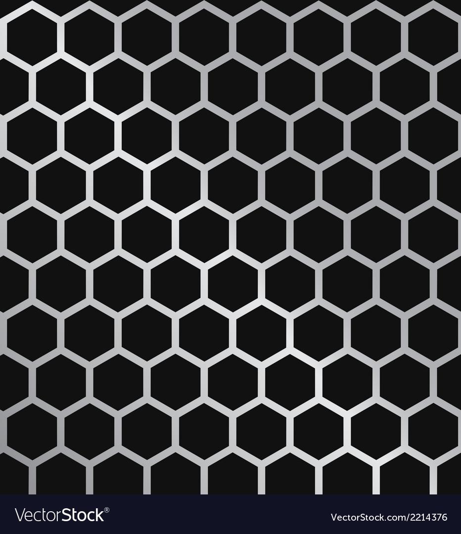 Metal hexagon grill vector | Price: 1 Credit (USD $1)