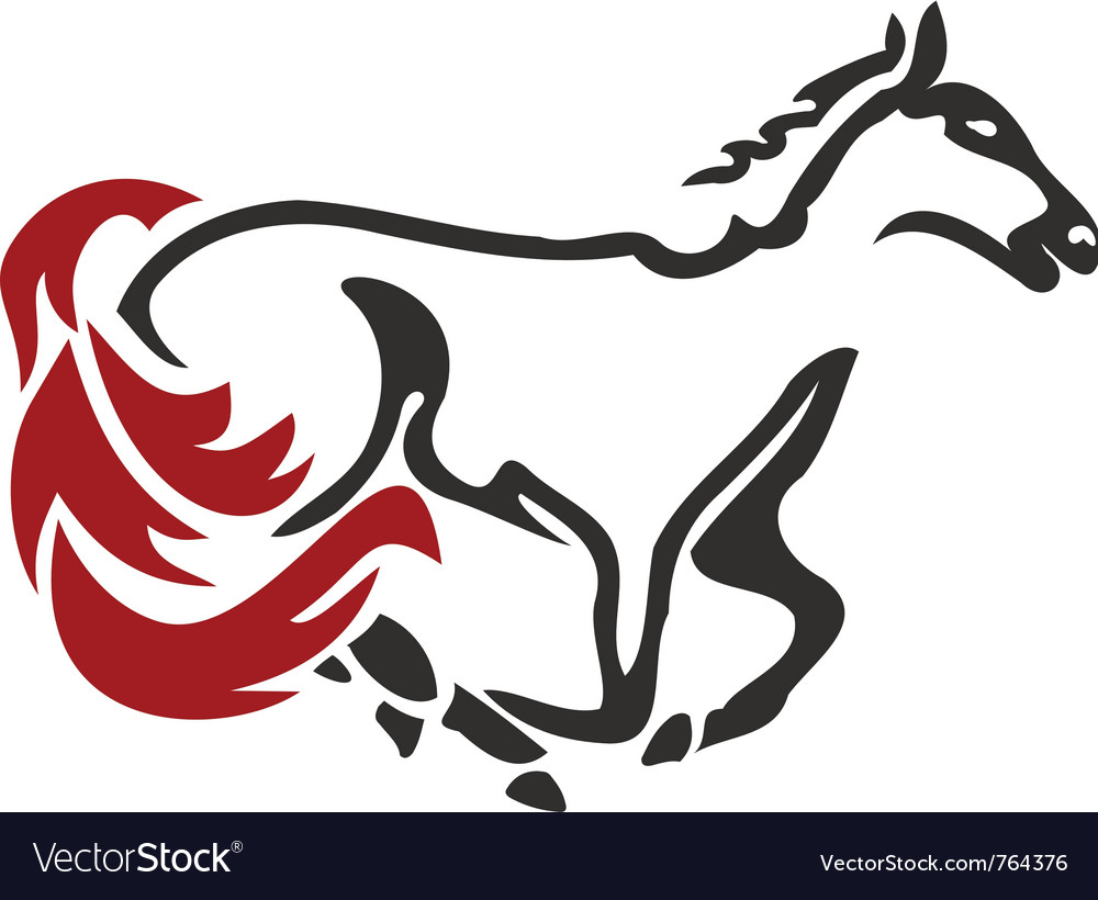 Racing horse vector | Price: 1 Credit (USD $1)
