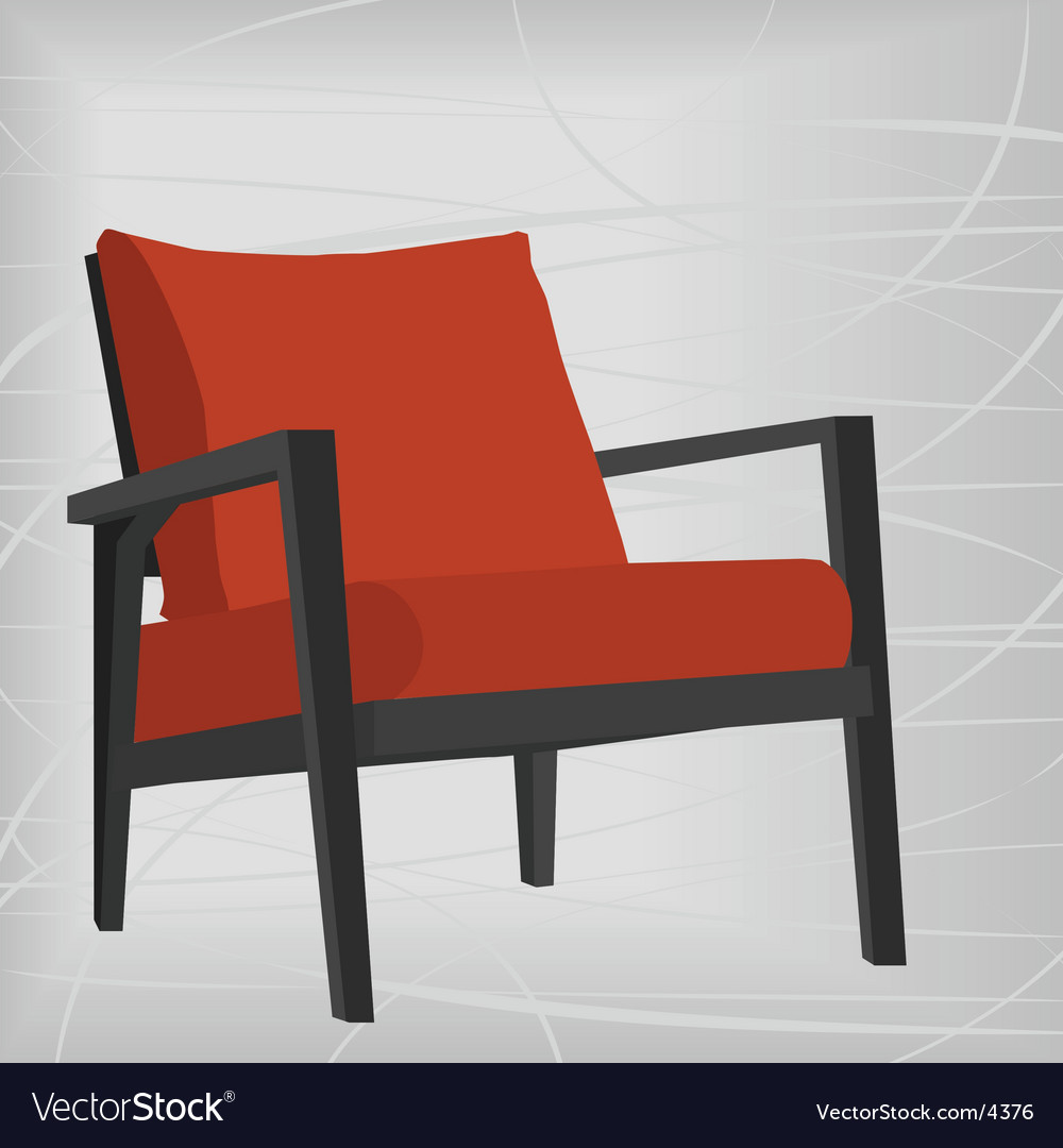 Retro modern chair vector | Price: 1 Credit (USD $1)