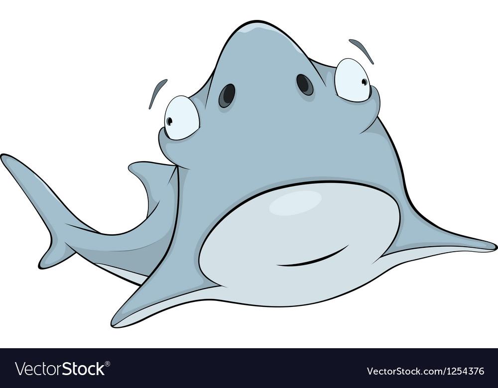 Shark cartoon vector   Price: 1 Credit (USD $1)