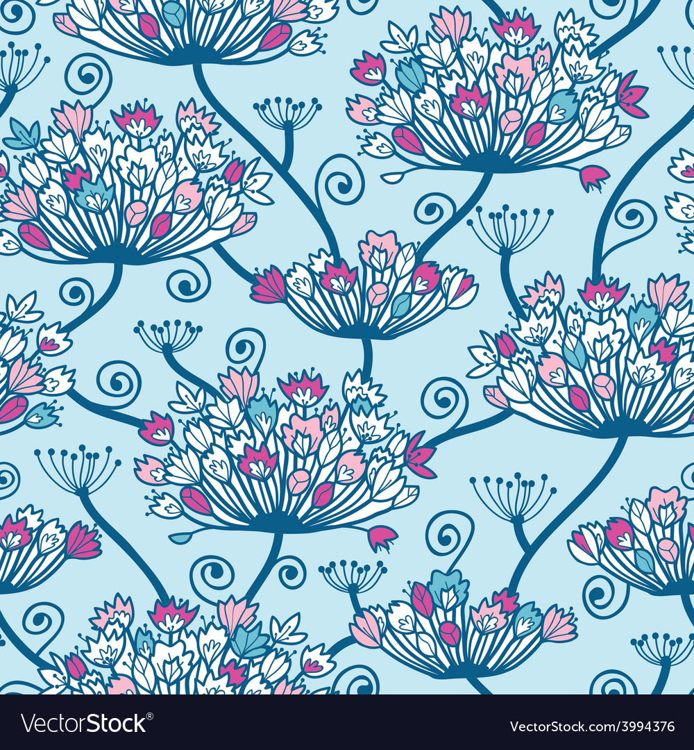 Spring flowers seamless pattern background vector | Price: 1 Credit (USD $1)