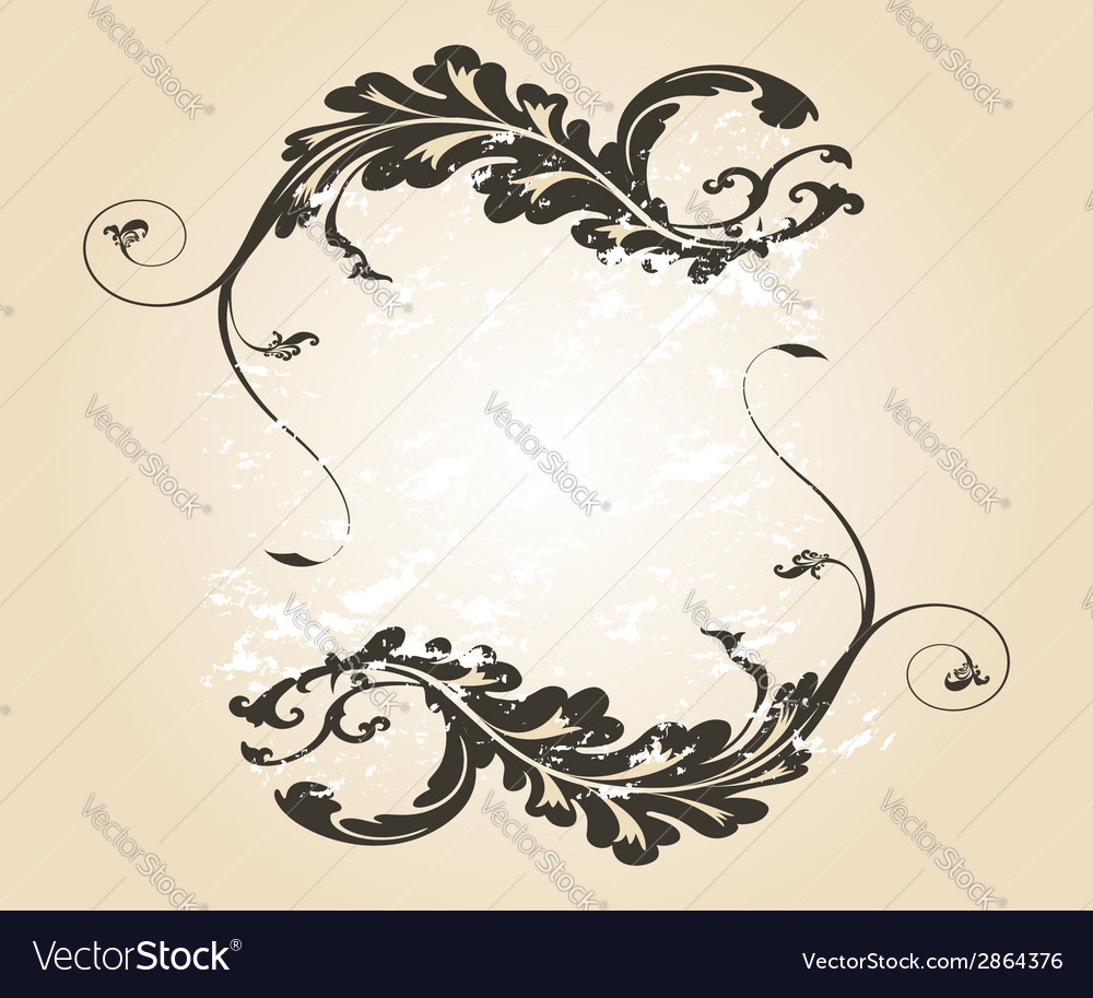 Stylish vintage floral frame design for vector | Price: 1 Credit (USD $1)