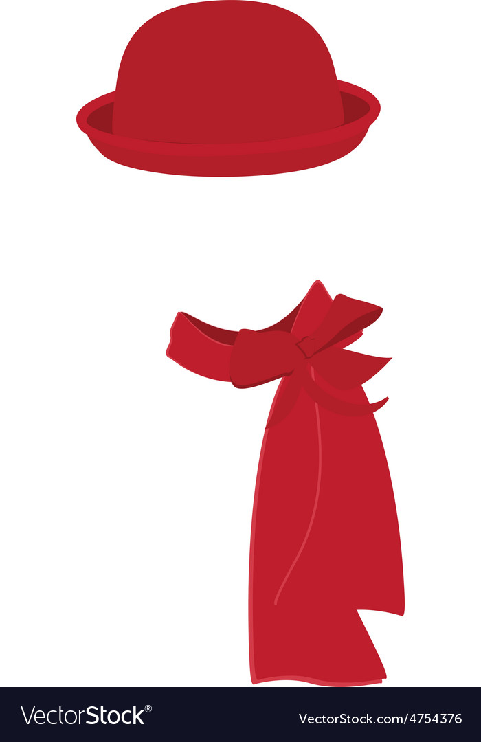 Winter hat and scarf vector | Price: 1 Credit (USD $1)