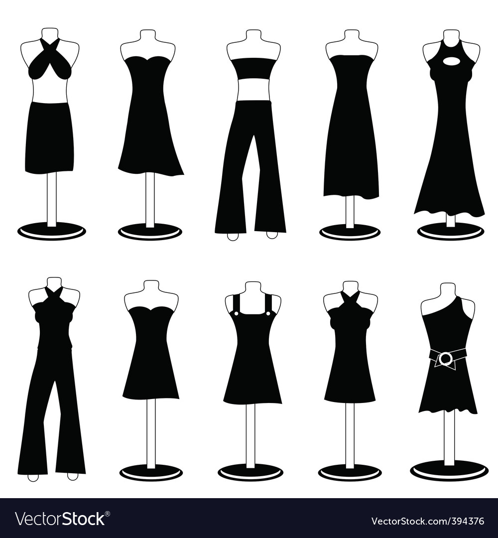 Woman fashion clothes vector | Price: 1 Credit (USD $1)