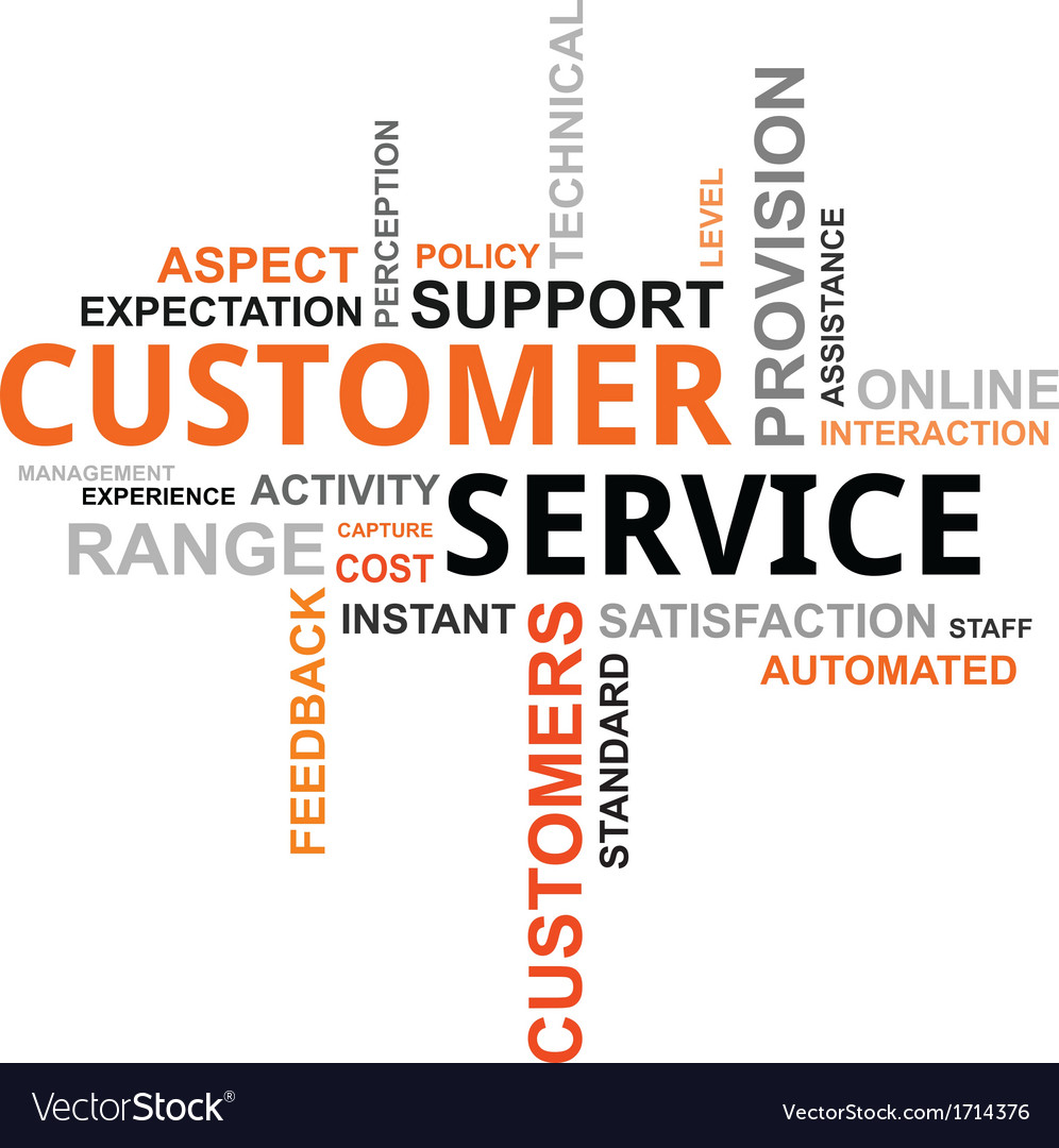 Word cloud customer service vector | Price: 1 Credit (USD $1)