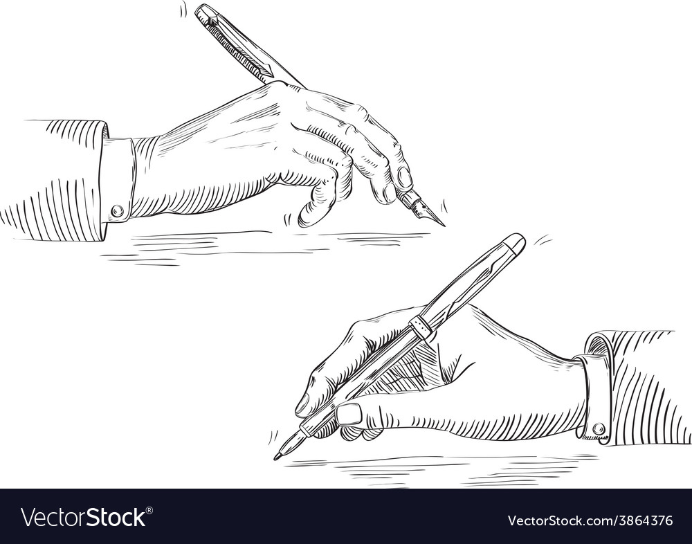 Writing hand of businessman vector | Price: 1 Credit (USD $1)