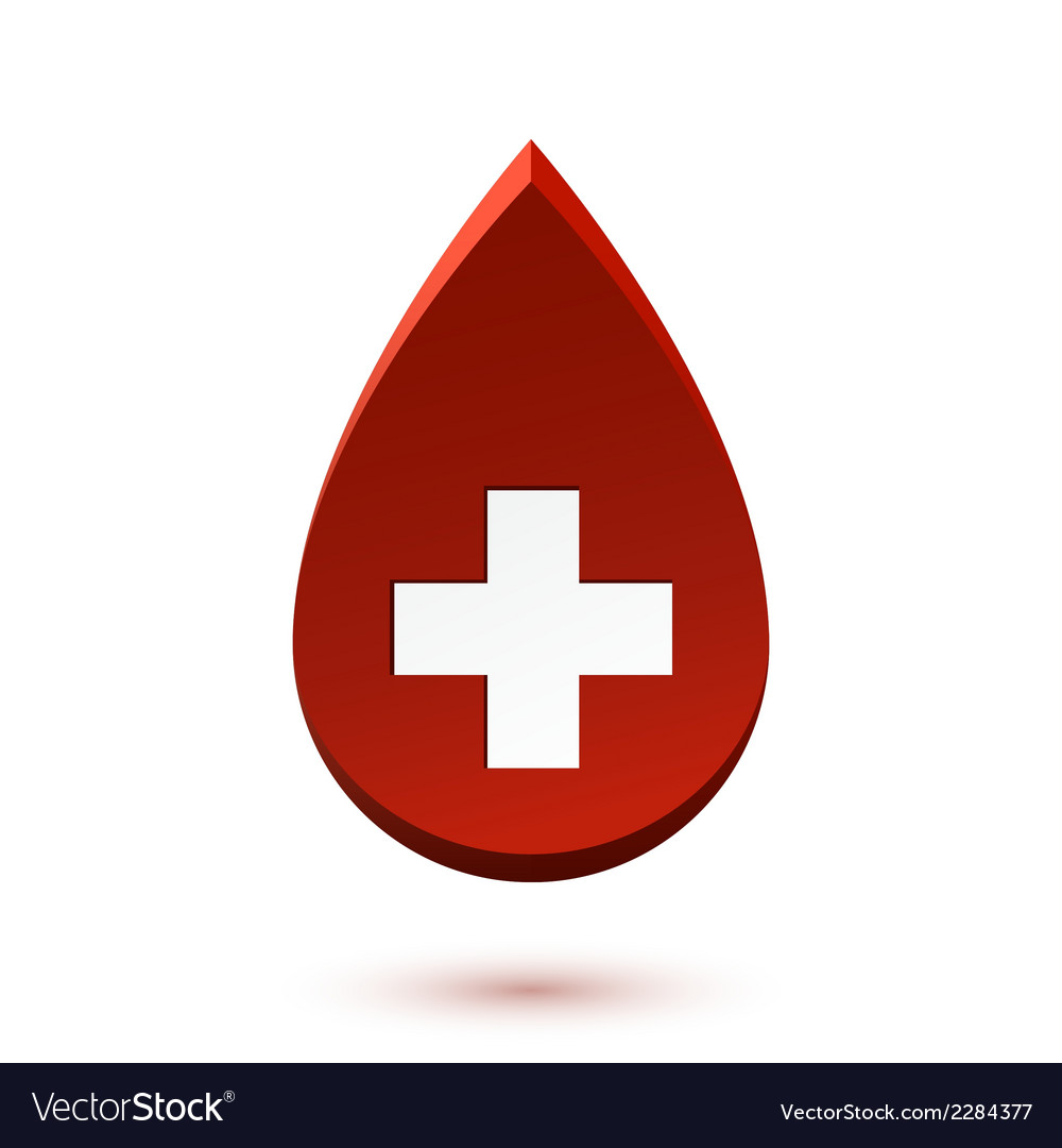 Abstract red drop medical symbol vector | Price: 1 Credit (USD $1)